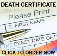 certificate of death, FAKE DEATH CERTIFICATE, replacemtn FAKE DEATH CERTIFICATE, new FAKE DEATH CERTIFICATE