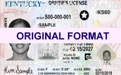 Kentucky DRIVER LICENSE ORIGINAL FORMAT, DESIGN SPECIFICATIONS, NOVELTY SECURITY CARD PROFILES, IDENTITY, NEW SOFTWARE ID SOFTWARE Kentucky driver