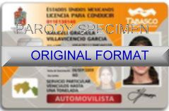 Mexico DRIVER LICENSE ORIGINAL FORMAT, DESIGN SPECIFICATIONS, NOVELTY SECURITY CARD PROFILES, IDENTITY, NEW SOFTWARE ID SOFTWARE Mexico driver