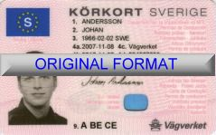 SWEDEN DRIVER LICENSE ORIGINAL FORMAT, DESIGN SPECIFICATIONS, NOVELTY SECURITY CARD PROFILES, IDENTITY, NEW SOFTWARE ID SOFTWARE