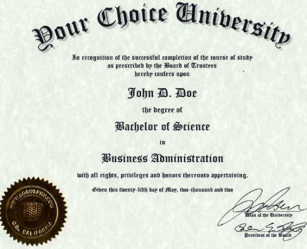 Fake diploma fake degree fake college degree or any type for Fake college degree template